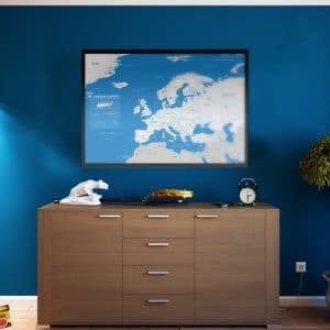 Carte de l'europe A.J Auxerre